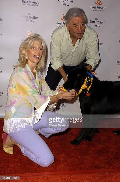 Peter Falk and wife Shera Danese during 2004 Annual Lint Roller Party at Hollywood Athletic Club in Hollywood California United States