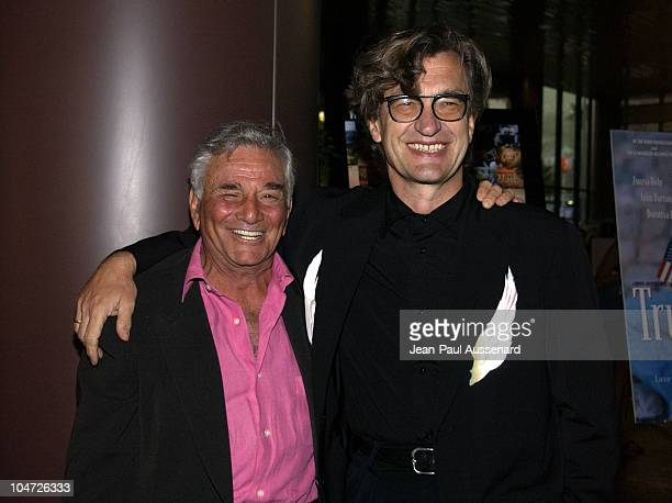 Peter Falk Wim Wenders during Director Wim Wenders Honored by Filmmakers Alliance at Directors Guild of America in Hollywood California United States