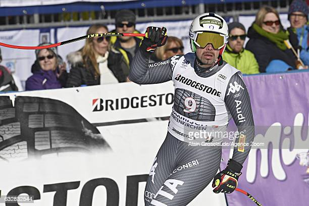 Peter Fill of Italy celebrates during the Audi FIS Alpine Ski World Cup Men's Downhill on January 27 2017 in GarmischPartenkirchen Germany