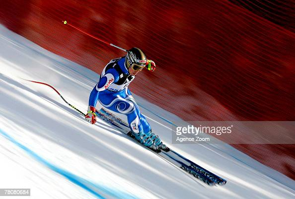 Peter Fill of Italy competes during Alpine FIS Ski World Cup Men's Downhill on November 24 2007 in Lake Louise Canada
