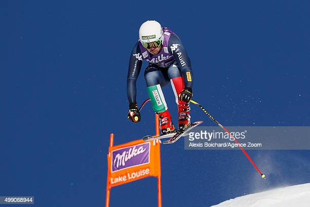 Peter Fill of Italy competes during the Audi FIS Alpine Ski World Cup Men's Downhill on November 28 2015 in Lake Louise Canada