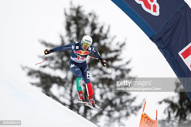 Peter Fill of Italy competes during the Audi FIS Alpine Ski World Cup Men's Downhill on January 23 2016 in Kitzbuehel Austria