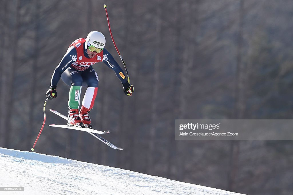 <a gi-track='captionPersonalityLinkClicked' href=/galleries/search?phrase=Peter+Fill&family=editorial&specificpeople=4051841 ng-click='$event.stopPropagation()'>Peter Fill</a> of Italy competes during the Audi FIS Alpine Ski World Cup Men's Downhill on January 06, 2016 in Jeongseon, South Korea.