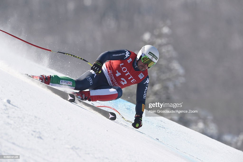<a gi-track='captionPersonalityLinkClicked' href=/galleries/search?phrase=Peter+Fill&family=editorial&specificpeople=4051841 ng-click='$event.stopPropagation()'>Peter Fill</a> of Italy competes during the Audi FIS Alpine Ski World Cup Men's Super G on January 07, 2016 in Jeongseon, South Korea.