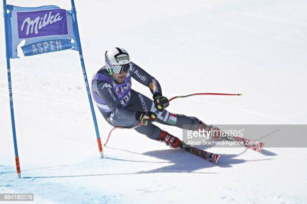 Peter Fill of Italy competes during the Audi FIS Alpine Ski World Cup Finals Women's and Men's SuperG on March 16 2017 in Aspen Colorado