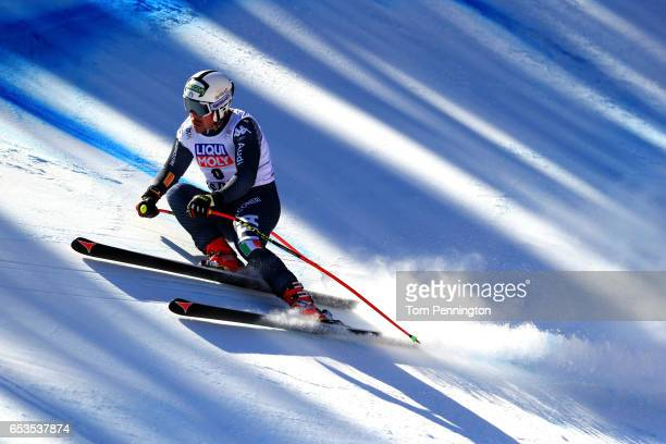 Peter Fill of Italy competes in the Men's Downhill for the 2017 Audi FIS Ski World Cup Final at Aspen Mountain on March 15 2017 in Aspen Colorado