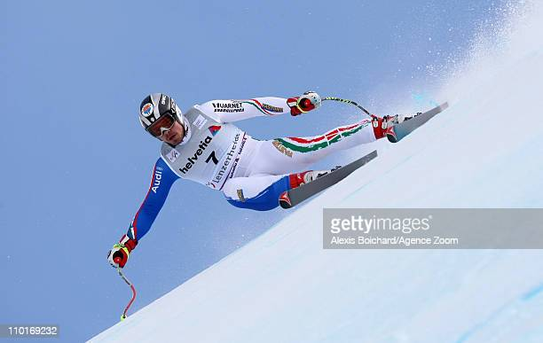 Peter Fill of Italy during the Audi FIS Alpine Ski World Cup Men's Downhill on March 16 2011 in Lenzerheide Switzerland