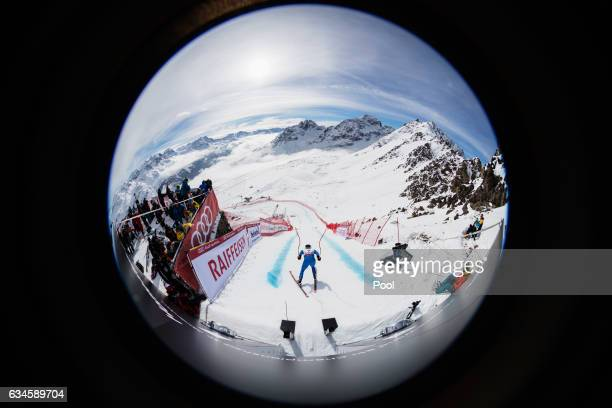 Peter Fill of Italy starts during Men's Downhill training during the FIS Alpine World Ski Championships on February 9 2017 in St Moritz Switzerland