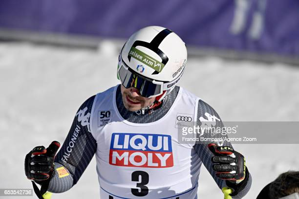 Peter Fill of Italy takes 2nd place wins the globe in the overall standings during the Audi FIS Alpine Ski World Cup Finals Women's and Men's...