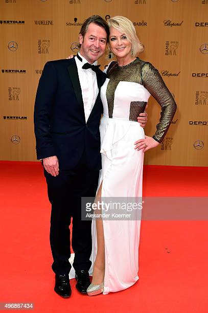 Peter Fissenewert and Ulla Kock am Brink attend the Bambi Awards 2015 at Stage Theater on November 12 2015 in Berlin Germany