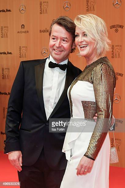 Peter Fissenewert and Ulla Kock am Brink attend the Kryolan At Bambi Awards 2015 Red Carpet Arrivals on November 12 2015 in Berlin Germany