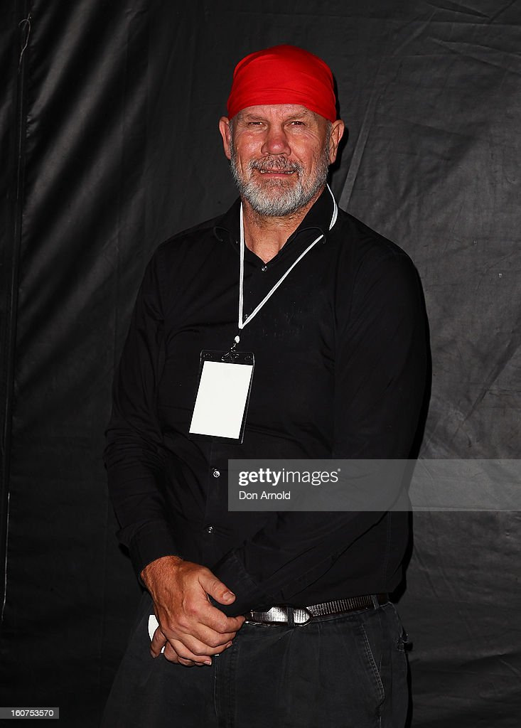 Peter FitzSimons poses at the 'The Sweeney' OpenAir Cinema premiere on February 5, 2013 in Sydney, Australia.
