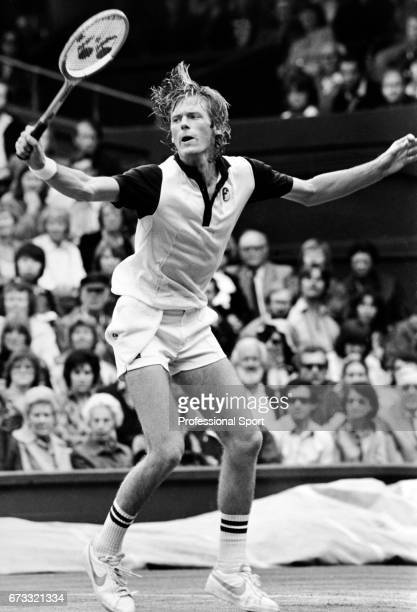 Peter Fleming of the United States in action during the Wimbledon Championships held at the All England Lawn Tennis and Croquet Club in Wimbledon...