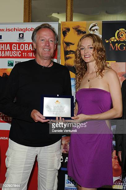 Peter Fonda and Heather Graham attend day five of the Ischia Global Film And Music Festival on July 15 2010 in Ischia Italy