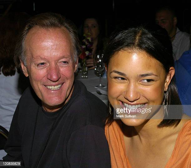 Peter Fonda and Julia Jones during HatcH Audiovisual Arts Festival 'The Great Raid' Dinner at The Baxter Hotel in Bozeman Montana United States
