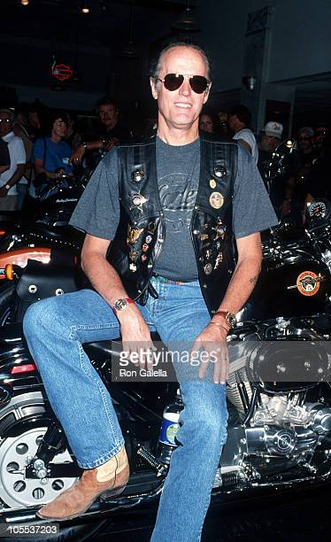 Peter Fonda during Kick Off Ceremony for Love Ride 11 for MDA August 20 1994 at Harley Davidson of Glendale in Glendale California United States