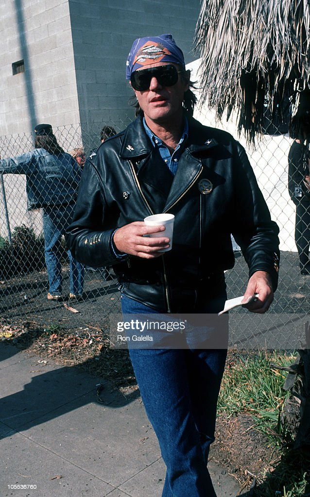 Peter Fonda during 'Love Ride 8' for MDA at Glendale Harley Davidson in Glendale California United States