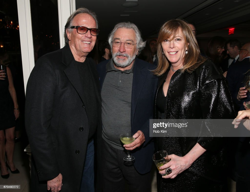 Peter Fonda, Robert De Niro and Jane Rosenthal attend the 2017 Tribeca Film Festival Opening Night Party at Tavern On The Green on April 19, 2017 in New York City.