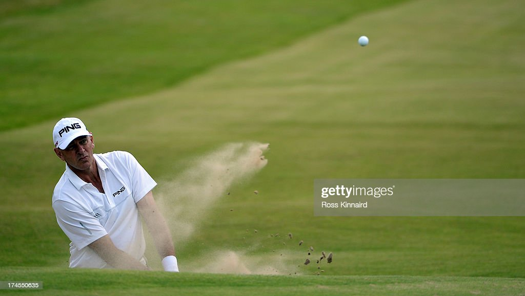 <a gi-track='captionPersonalityLinkClicked' href=/galleries/search?phrase=Peter+Fowler+-+Golfer&family=editorial&specificpeople=14698628 ng-click='$event.stopPropagation()'>Peter Fowler</a> of Australia on the par five 17th hole during the third round of The Senior Open Championship at Royal Birkdale on July 27, 2013 in Southport, England.