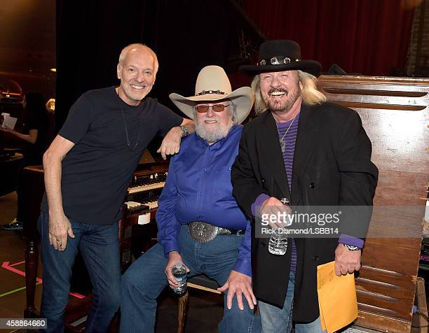 Peter Frampton Charlie Daniels and Donnie Van Zant attend One More For The Fans Celebrating the Songs Music of Lynyrd Skynyrd at The Fox Theatre on...