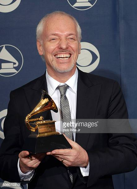 Peter Frampton with Grammy Award he received during 49th annual Grammy Awards ceremony February 11 2007 at Staples Center in Los Angeles California
