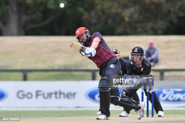 Peter Fulton of Canterbury batting during the Ford Trophy match between Canterbury and Wellington on February 8 2017 in Christchurch New Zealand