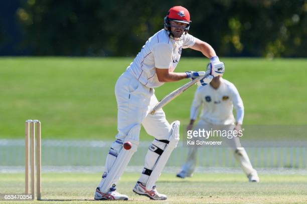 Peter Fulton of Canterbury batting during the Plunket Shield match between Canterbury and Otago on March 15 2017 in Christchurch New Zealand