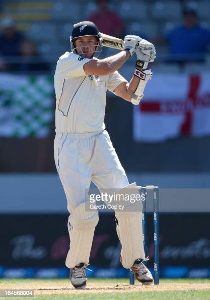 Peter Fulton of New Zealand bats during day four of the Third Test match between New Zealand and England at Eden Park on March 25 2013 in Auckland...