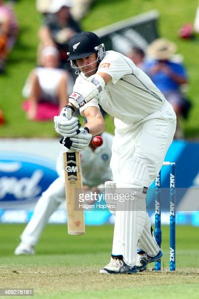 Peter Fulton of New Zealand bats during day one of the 2nd Test match between New Zealand and India on February 14 2014 in Wellington New Zealand