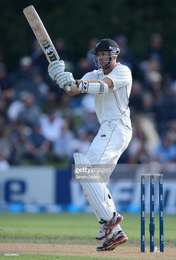 Peter Fulton of New Zealand bats during day two of the First Test match between New Zealand and England at University Oval on March 7, 2013 in Dunedin, New Zealand.