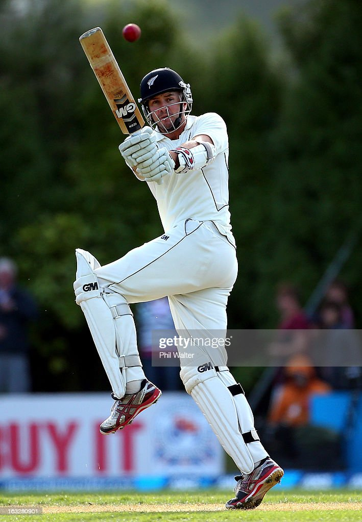 <a gi-track='captionPersonalityLinkClicked' href=/galleries/search?phrase=Peter+Fulton&family=editorial&specificpeople=658568 ng-click='$event.stopPropagation()'>Peter Fulton</a> of New Zealand bats during day two of the First Test match between New Zealand and England at University Oval on March 7, 2013 in Dunedin, New Zealand.