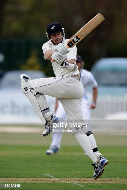 Peter Fulton of New Zealand during the tour match between Derbyshire and New Zealand at The County Ground on May 4 2013 in Derby England