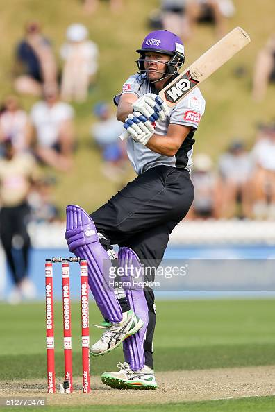Peter Fulton of South Island bats during the Island of Origin Twenty20 at Basin Reserve on February 28 2016 in Wellington New Zealand