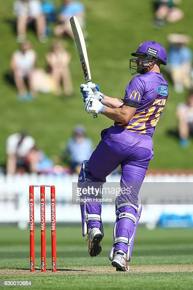 Peter Fulton of the Kings bats during the McDonalds Super Smash T20 match between Wellington Firebirds and Canterbury Kings at Basin Reserve on...