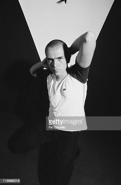 Peter Gabriel British singersongwriter and musician poses with his arms behind his shaven head in a studio portrait 1978 Gabriel rose to fame as the...