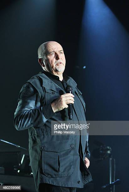 Peter Gabriel performs at the 3Arena on December 10 2014 in Dublin Ireland