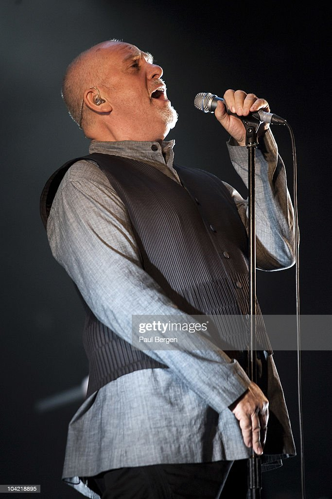 Peter Gabriel performs on stage at Gelredome on September 17 2010 in Arnhem Netherlands
