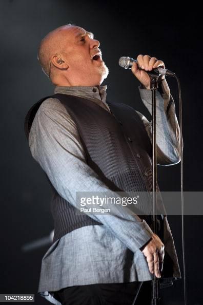 Peter Gabriel performs on stage at Gelredome on September 17 2010 in Arnhem Netherlands