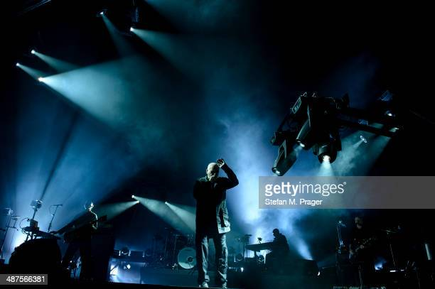 Peter Gabriel performs on stage at Olympiahalle on April 30 2014 in Munich Germany