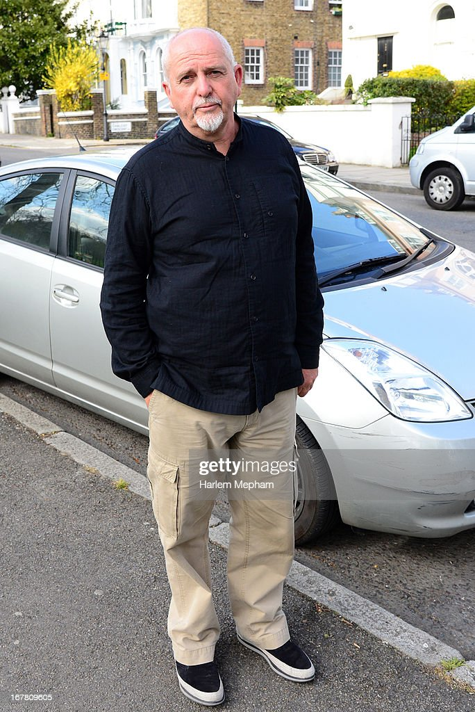 <a gi-track='captionPersonalityLinkClicked' href=/galleries/search?phrase=Peter+Gabriel&family=editorial&specificpeople=201873 ng-click='$event.stopPropagation()'>Peter Gabriel</a> sighted in Primrose Hill on April 30, 2013 in London, England.