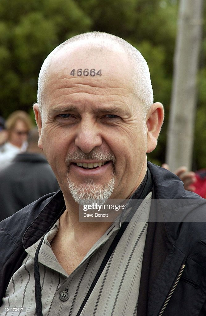 Peter Gabriel, The Stars Of Rock And Roll Join Forces For Nelson Mandela's 46664 Concert In Cape Town, South Africa. In The Pre, Concert Build Up The Artists And Mr Mandela Travelled To The Prison On Robben Island, Where Mr Mandela Was Imprisoned For 27 Years And Was Known Simple As Prisoner 46664, South Africa Gears Up For Aids Awareness Mandela Concert 46664. The Concert Is In Association With Mtv's Staying Alive & Www.46664.com Powered By Tiscali.