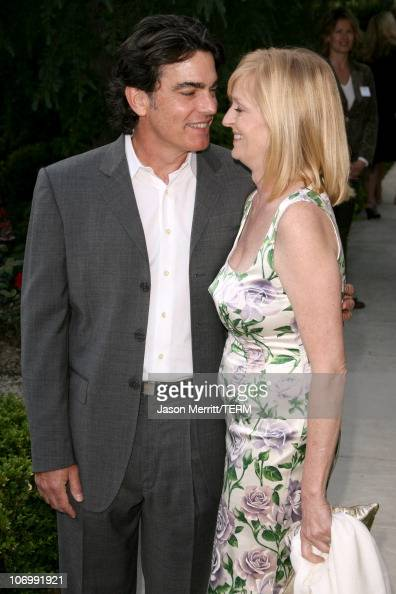 Peter Gallagher and his wife during Chrysalis' 5th Annual Butterfly Ball at The Italian Villa Carla Fred Sands in Bel Air California United States
