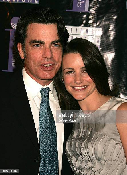 Peter Gallagher and Kristin Davis during The 4th Annual Jewish Image Awards at Beverly Hilton Hotel in Beverly Hills California United States