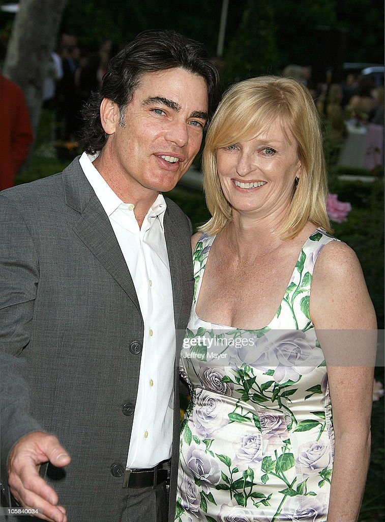 Peter Gallagher and wife Paula during Chrysalis's 5th Annual Butterfly Ball Arrivals at Italian villa of Carla and Fred Sands in Bel Air California...