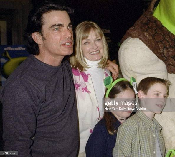 peter gallagher and wife paula harwood are on hand with