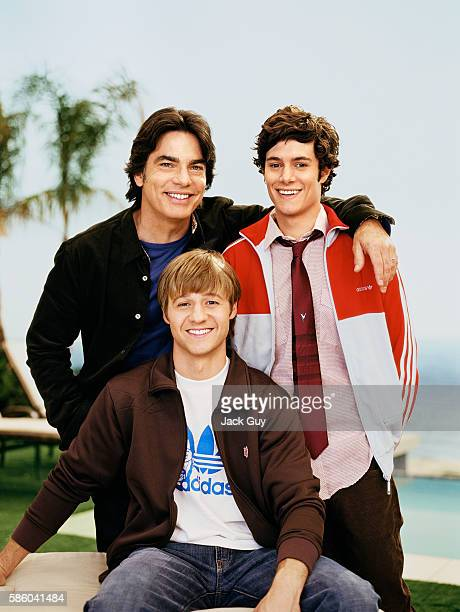 Peter Gallagher, Benjamin McKenzie and Adam Brody of The O.C. are photographed for TV Guide Magazine in 2004 in Los Angeles, California. PUBLISHED