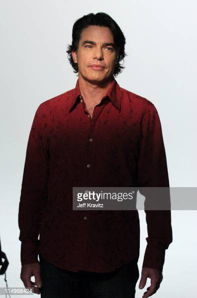 Peter Gallagher during The Making of Rock The Vote Television Spots at Studio 4 in West Hollywood California United States