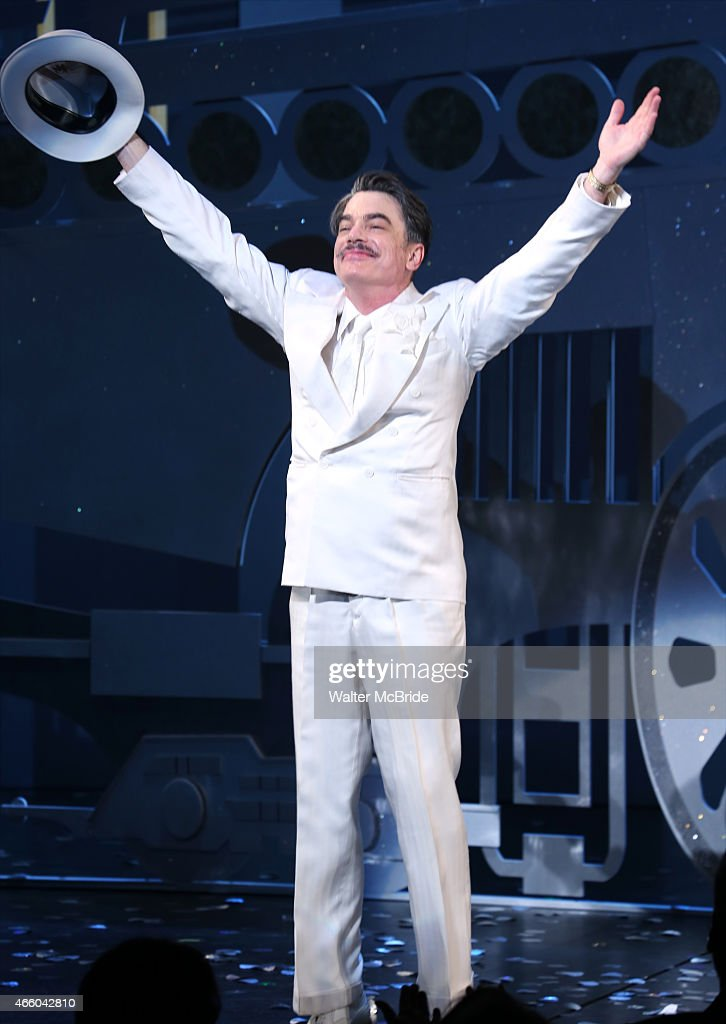 Peter Gallagher during the Opening Night Performance Curtain Call for 'On The 20th Century' at the American Airlines Theatre on March 12 2015 in New...