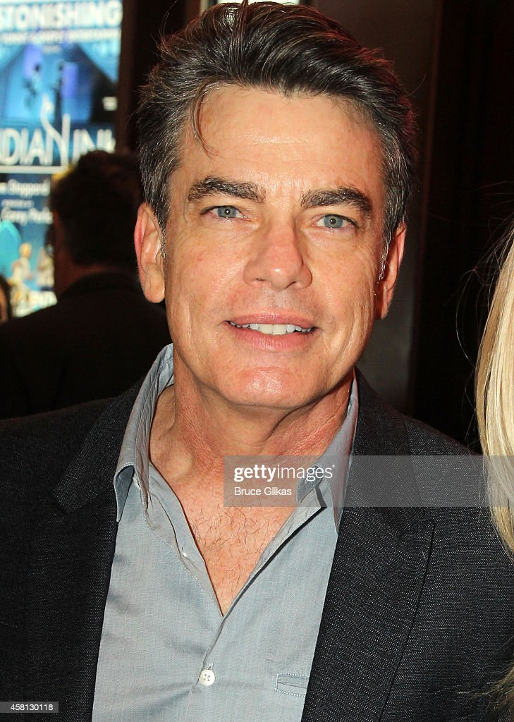 Peter Gallagher poses at The Opening Night of 'The Real Thing' on Broadway at American Airlines Theatre on October 30 2014 in New York City