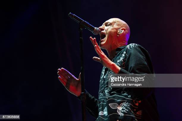 Peter Garrett from Midnight Oil performs at The Domain on November 11 2017 in Sydney Australia